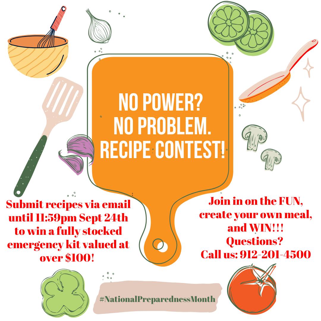 No Power? No Problem! Recipe Contest!