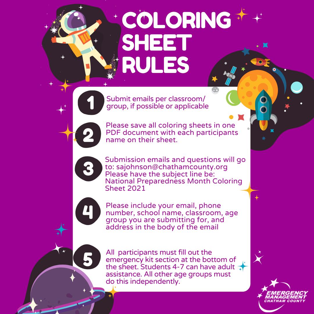 National Preparedness Month Children's Coloring Contest