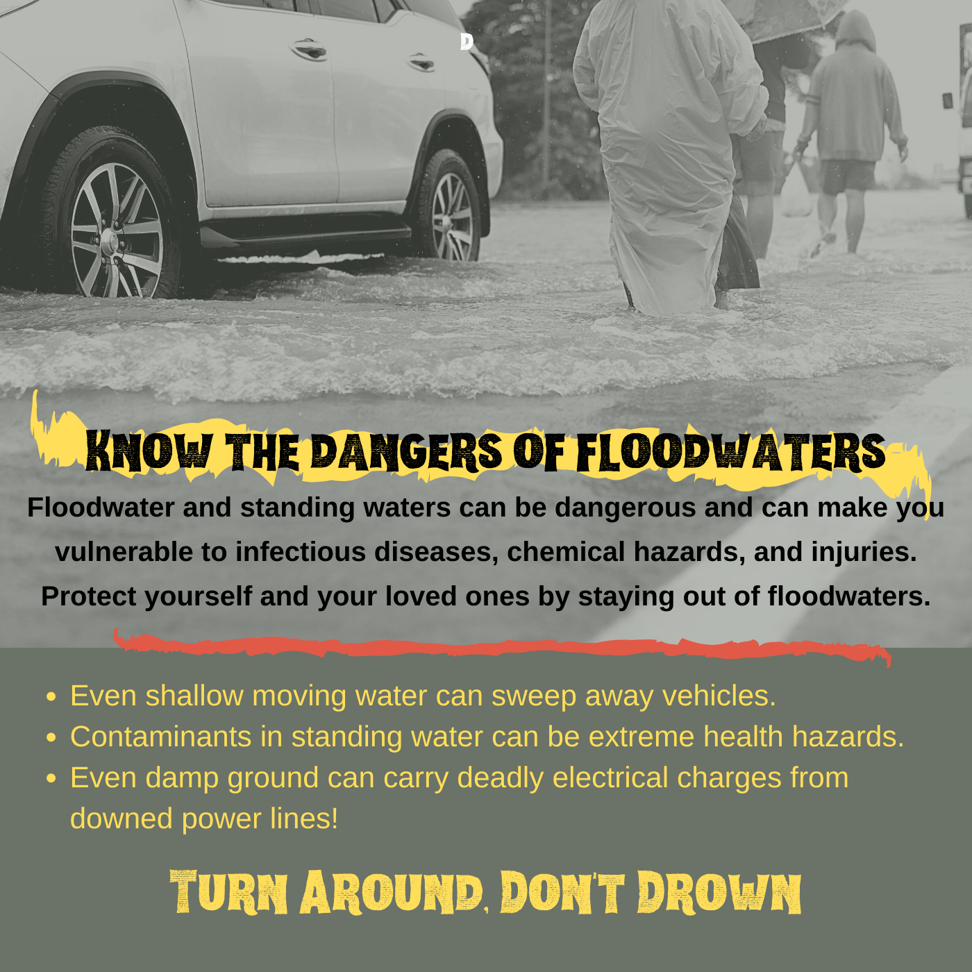 Remember: Turn Around, Don't Drown!